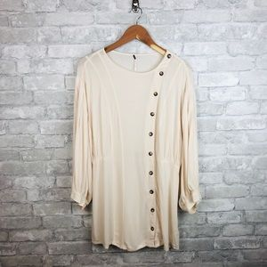 Free People Tops - Free People Button Tunic Top in Cream